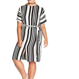 CITY CHIC Stripe 👗 Dress